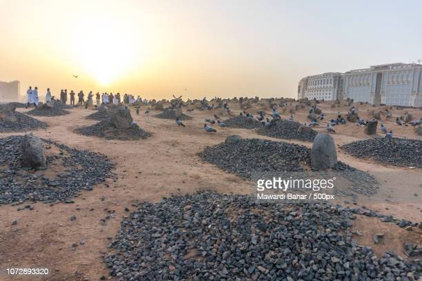 MEDINA, MAR 08 : View of Baqee' Muslim cemetary at Masjid (mosque) Nabawi on March 08, 2015 in Al Ma