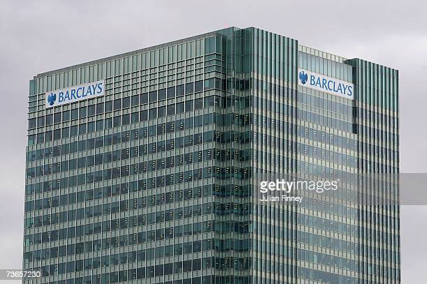A view of Barclays Bank Headquarters at Canary Wharf on March 21 2007 in London England Barclays Propose 80 Billion Pound Merger With ABN Amro