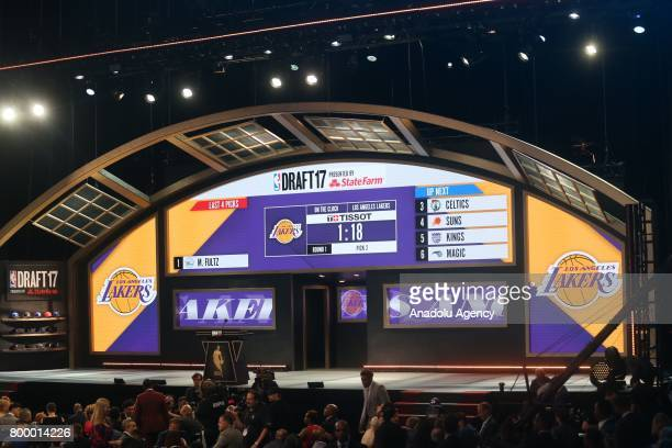 A view of Barclays Center during NBA Draft 2017 in Brooklyn borough of New York United States on June 22 2017