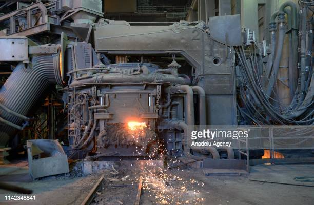 A view of Bardsir steel plant in Kerman's Bardsir city Iran on May 8 2019 600 thousand tons of steel ingots and 400 thousand tons of construction...
