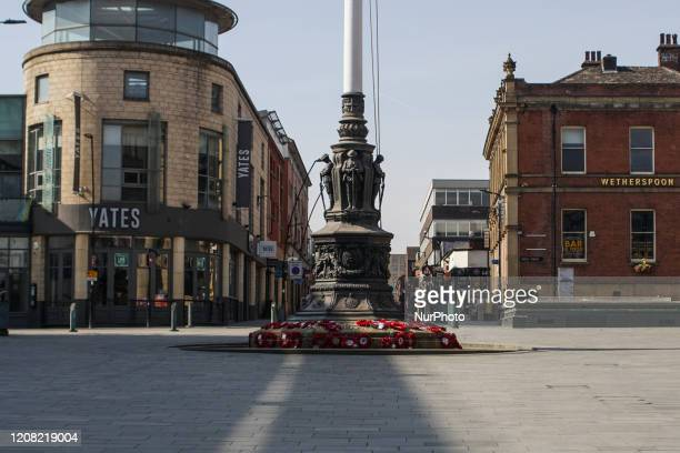 View of Barkers as it seen deserted in Sheffield, England on 24 March 2020.