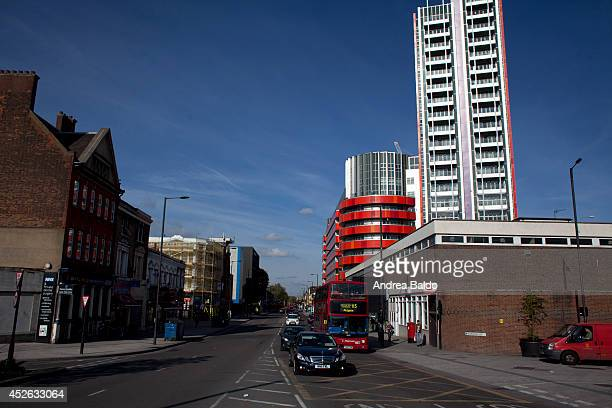 A view of Barking Road in Canning Town East London