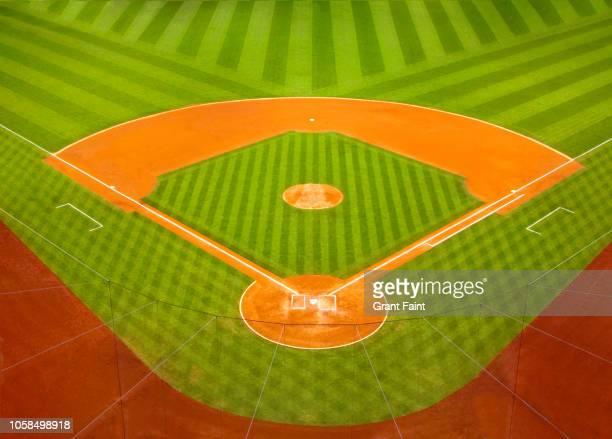 view of baseball empty field. - baseball ストックフォトと画像