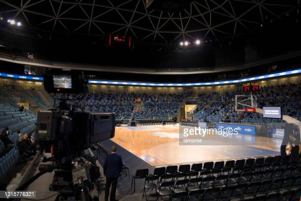 view of basketball court - nba stock pictures, royalty-free photos & images