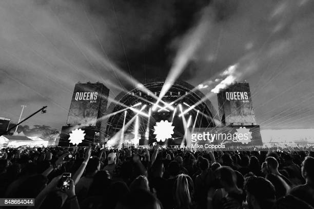 A view of Bassnectar during the Meadows Music and Arts Festival Day 3 at Citi Field on September 17 2017 in New York City
