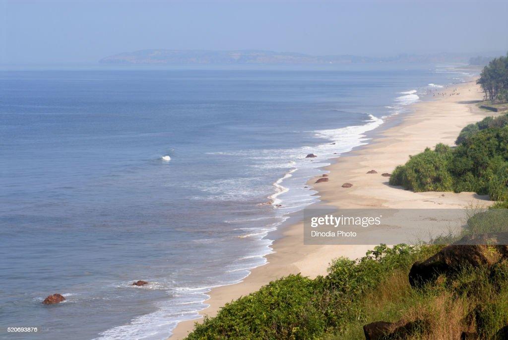 View of Beach Ganpatipule Ratnagiri Maharashtra India Asia : ストックフォト