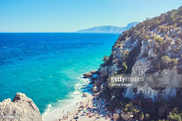 view of beach - sardinia stock pictures, royalty-free photos & images