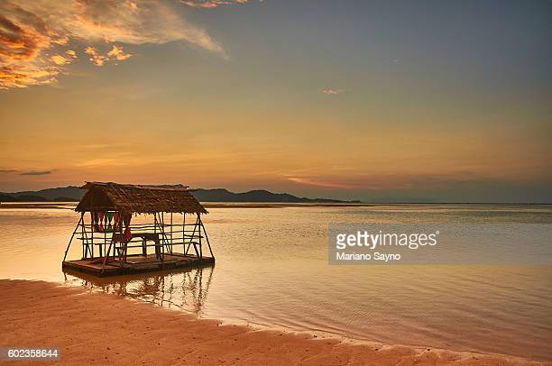View of beach sunset, Philippines, Asia