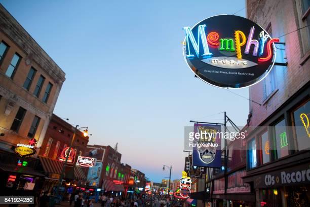 View of Beale Street, Memphis, TN