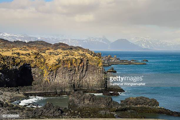 View of beautiful bay near Ring road in East Fjords, Iceland