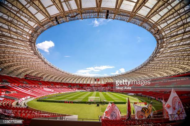 View of Beira Rio stadium before the match as part of Brasileirao Series A 2020 at Beira Rio Stadium on January 24, 2021 in Porto Alegre, Brazil.