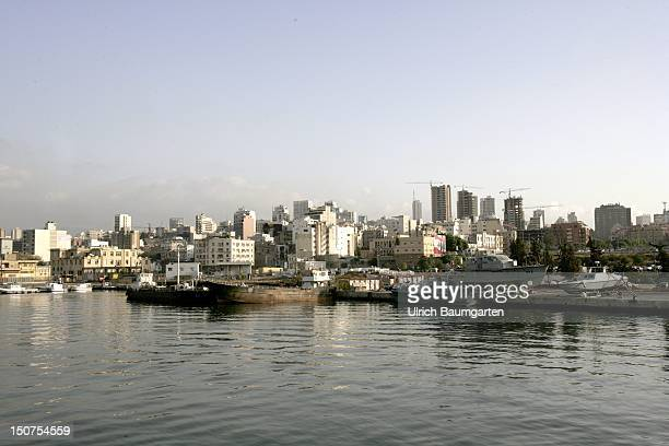 LEBANON BEIRUT View of Beirut from sea