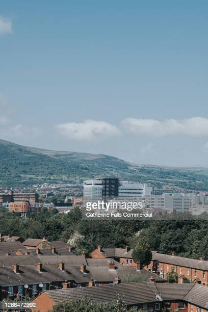 view of belfast city, northern ireland - belfast stock pictures, royalty-free photos & images