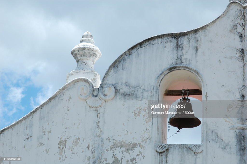 View of belfry on Iglesia De San Blas, Nicoya, Guanacaste, Costa Rica : ストックフォト