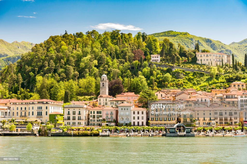 View of Bellagio from Lake Como, Lombardy, Italy : Stock Photo