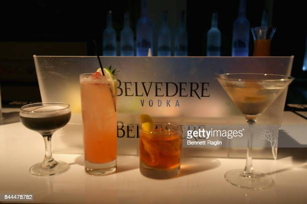 A view of Belvedere at Harper's BAZAAR Celebration of 'ICONS By Carine Roitfeld' at The Plaza Hotel presented by Infor Laura Mercier Stella Artois...
