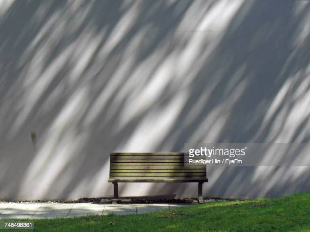 View Of Bench Against Wall