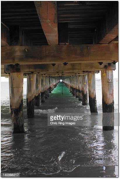 View of beneath pier