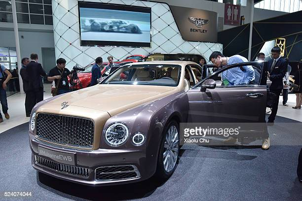 A view of Bentley at 2016 Auto China on April 25 2016 in Beijing China