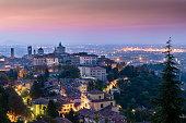View of Bergamo high city
