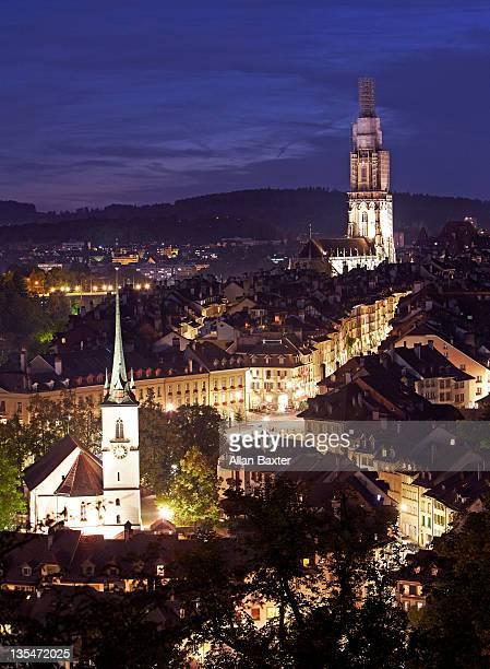 View of Bern at dusk