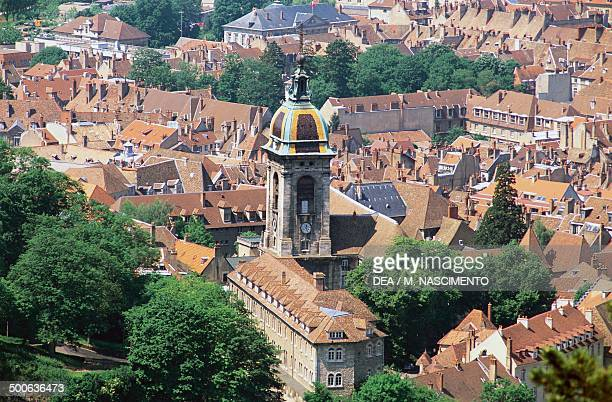 View of Besancon and the Cathedral of St John , Franche-Comte, France.