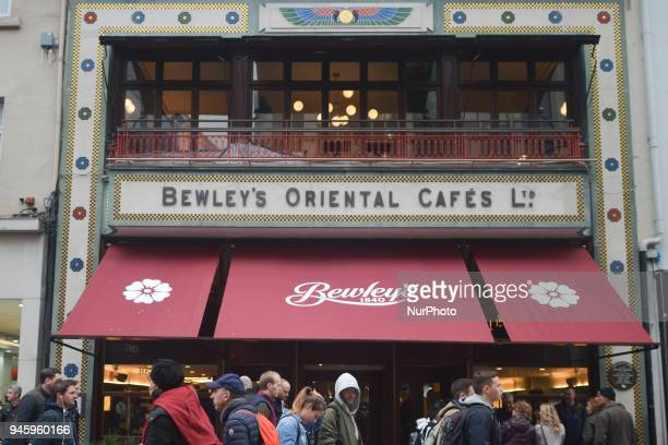 A view of Bewley's Oriental Cafe facade on Grafton Street On Friday April 13 in Dublin Ireland