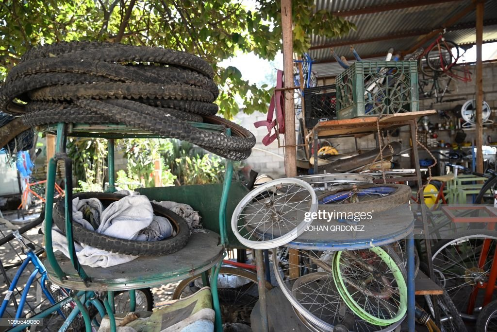 View Of Bicycle Parts Used To Make Machines At The Maya Pedal