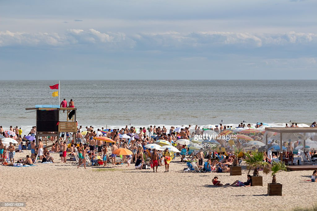 View Of Bikini Beach Punta Del Este Uruguay Stock Photo