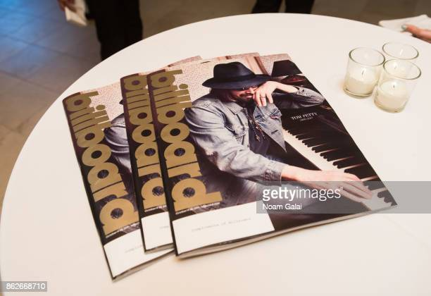 A view of Billboard magazines at the TJ Martell 42nd Annual New York Honors Gala at Guastavino's on October 17 2017 in New York City
