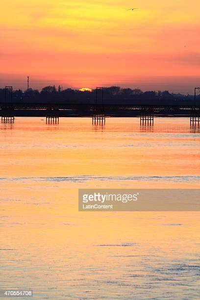 View of Biobio river on September 30th, 2014 in Concepcion, Chile. Concepcion is one of the eight host cities of the next Copa America Chile 2015,...