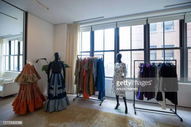 View of Black In Fashion Council Showroom during September 2020 - New York Fashion Week: The Shows at Spring Studios on September 13, 2020 in New...