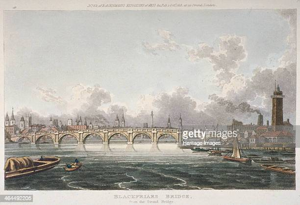 View of Blackfriars Bridge from the Strand Bridge London 1815 The first Blackfriars Bridge designed by Robert Mylne and completed in 1769