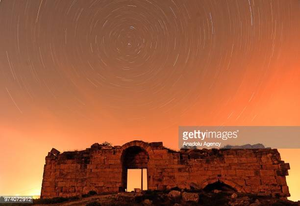 View of Blaundus ancient city located at Ulubey district of Turkey's Usak province on June 13, 2018. Blaundus ancient city built by people coming...