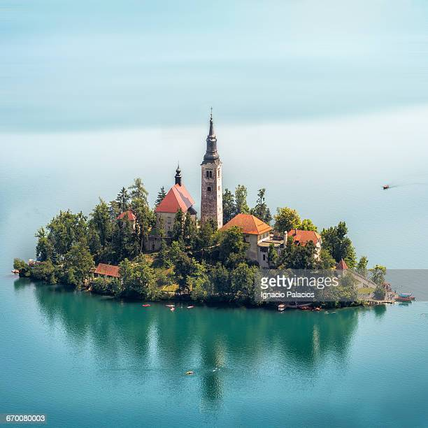 View of Bled Lake and Castle from Ojstrica Hill