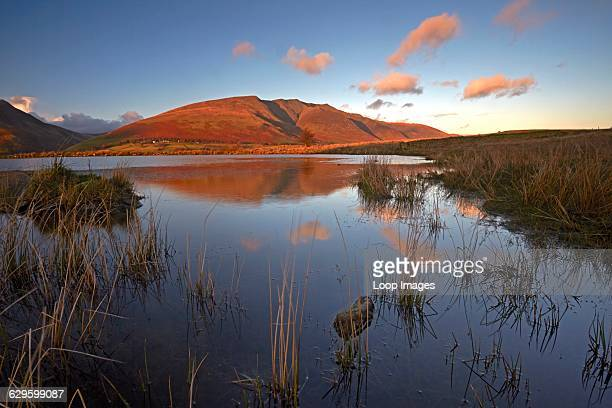 A view of Blencathra from Tewet Tarn Tewet Tarn England