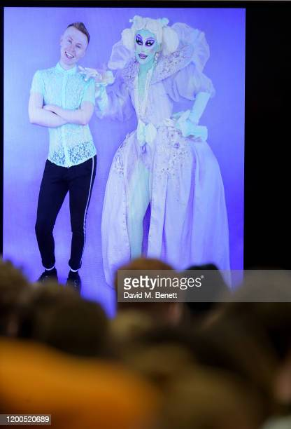 View of Blu Hydrangea at RuPaul's DragCon UK presented by World Of Wonder at Olympia London on January 19, 2020 in London, England.