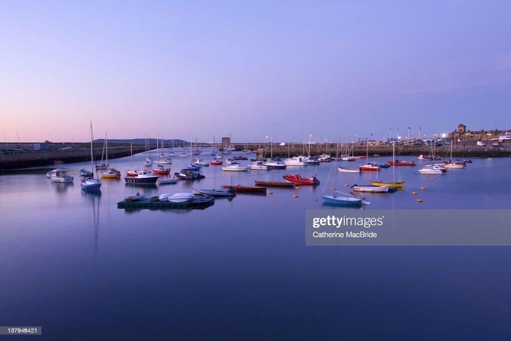 View of blue harbour : Foto de stock