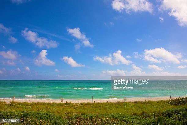 View of blue ocean, Miami Beach