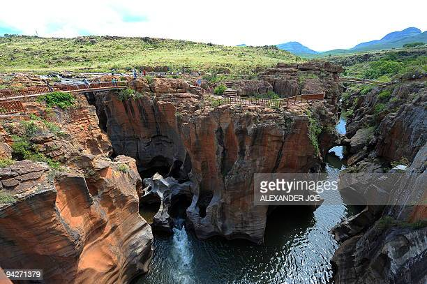 A view of Blyde River Canyon the third largest canyon in the world called by locals The Potholes these rock formations were shaped millions of years...