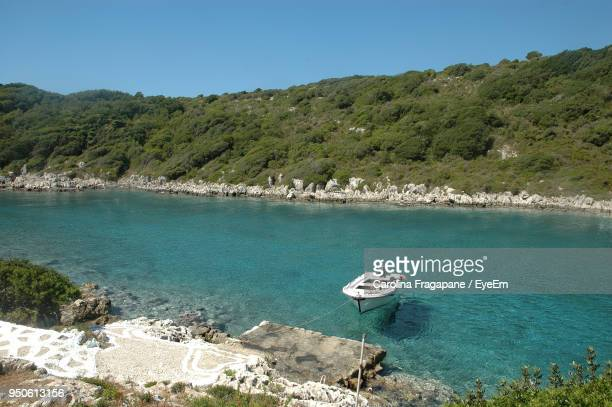 view of boats in sea - carolina fragapane stock pictures, royalty-free photos & images