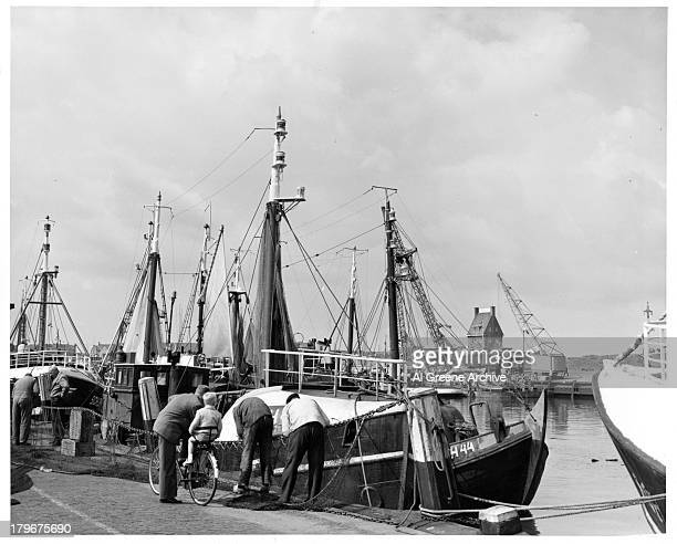 A view of boats in the port of RotterdamNetherlands