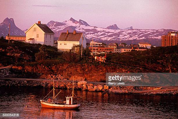 View of Bodo from the Coastal Express, which sails between Bergen and Kirkenes. For more than a century, the coastal steamer Hurtigruten has been the...