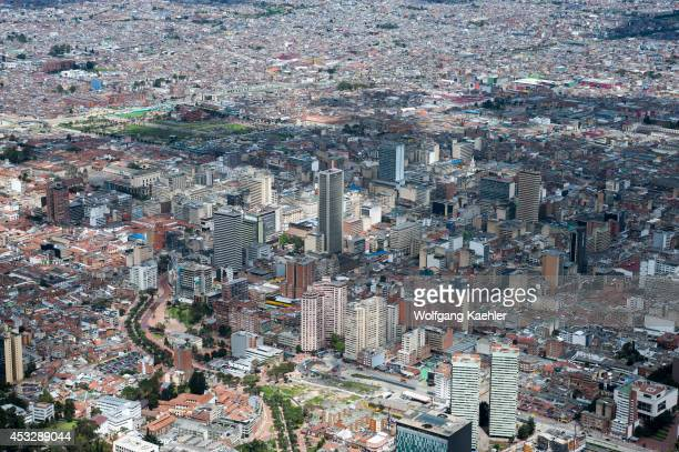 View of Bogota from Monserrate Hill Colombia