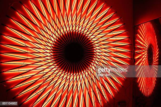 """View of """"Bold Notion: Art of Innovation"""", an immersive exhibition of light and space curated by artist, Matthew Schreiber, presented by Audi as part..."""