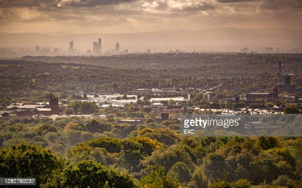 view of bolton, england - greater manchester stock pictures, royalty-free photos & images