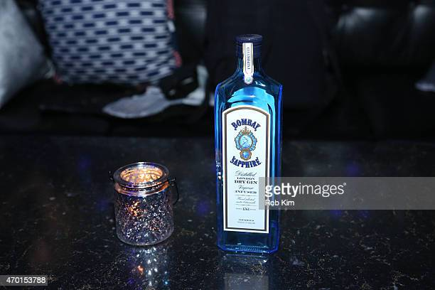 A view of Bombay Sapphire bottle at 2015 Tribeca Film Festival After Party For Meadowland Sponsored By BOMBAY SAPPHIRE Gin At PHD At Dream Downtown...