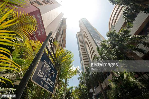 A view of Bombay Stock Exchange which recorded sensex falls to near threemonth lows on global riskoff on June 2 2015 in Mumbai India