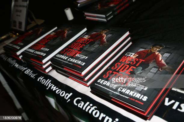 """View of books during the Golden Globe and Academy Award winner George Chakiris signs and discusses his new book """"My West Side Story: A Memoir"""" at TCL..."""