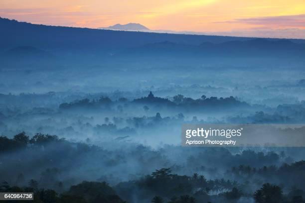 A view of Borobudur Temple from Punthuk Setumbu Hill